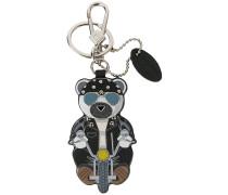 bear biker keyring