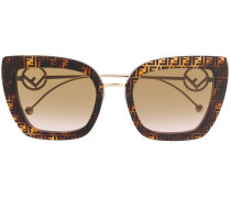 monogram print sunglasses