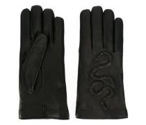 snake embossed gloves