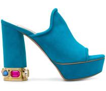 embellished heel mules