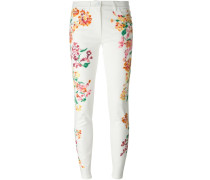 Jeans mit Blumenapplikation
