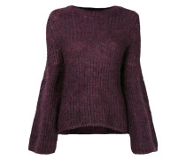 Pullover mit ausgestellten Ärmeln