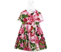 Kleid mit floralem Print - kids - Baumwolle