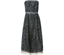 Schulterfreies Kleid mit Leopardenmuster