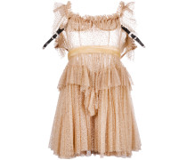 sheer frill-trim dress