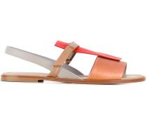 Sandalen mit Kontrasteinsatz - women - Leder