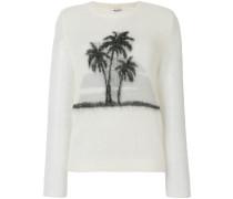 palm tree print sweater