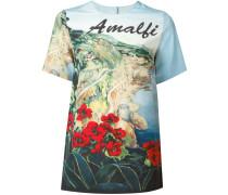 Seiden-T-Shirt mit Amalfi-Print