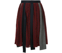 patchwork asymmetric skirt