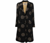 single-breasted spot-print coat