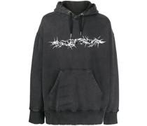 Barbed Wire printed hoodie