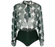 printed silk bodysuit