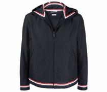 RWB-stripe hooded jacket