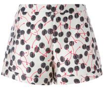 Brokat-Shorts mit Kirschen