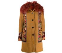 Einreihiger Mantel mit Tribal-Muster