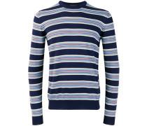 crew neck striped jumper