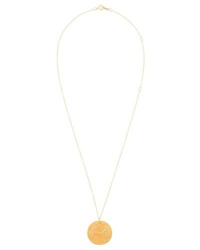 Halskette mit graviertem Anhänger