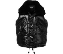 shearling collared gilet