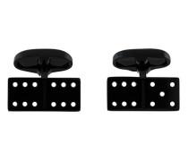 Manschetteknöpfe im Domino-Design