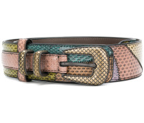 paneled python belt