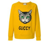 cat appliquéd sweatshirt