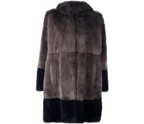 rabbit fur hooded coat
