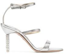 Sandalen mit kristallverziertem Absatz