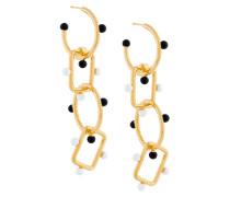 drop chain pendant earrings
