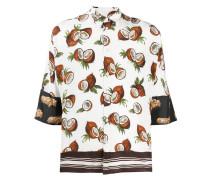 coconut print silk shirt