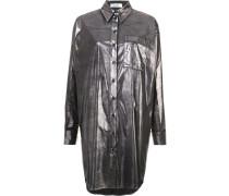 Metallisches Hemd mit langem Schnitt