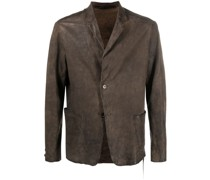 distressed-effect single-breasted blazer