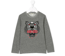 Langarmshirt mit Tiger-Print
