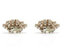Cluster-Ohrringe mit Kristallen