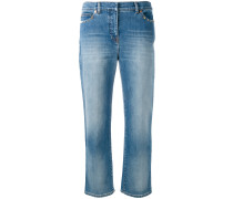 'Rockstud' Cropped-Jeans