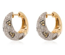 18kt yellow gold diamond and citrine leopard hoop earrings
