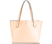 - Großer Shopper mit Logo-Print - women - Leder
