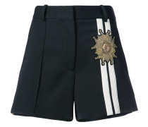 embroidered contrast panels shorts