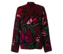 Jacquard-Pullover mit Lilienmotiv