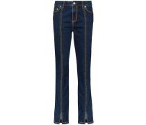 Skinny-Jeans mit Kontraststickerei