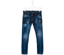 teen stonewashed distressed jeans