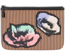 floral print clutch - women - Kalbsleder