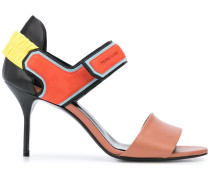 'Trixi' Sandalen in Colour-Block-Optik