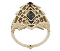 18kt 'Nila' Weißgoldring mit Topas