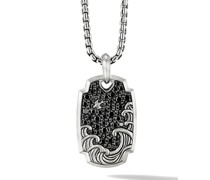 Waves Sterlingsilberanhänger mit Diamanten