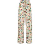 spotted print palazzo pants