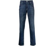 Dunkle Straight-Leg-Jeans