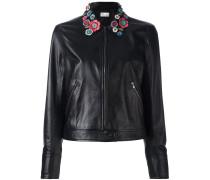 floral applique jacket