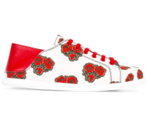 Sneakers mit Mohnblumen-Print