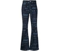 Jeans mit Monogramm-Print
