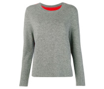 Pullover mit Kontrasteinsatz